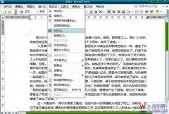 Word2003文档中设置全文分栏的方法