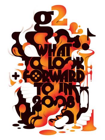 亚历克独特字体创意海报设计欣赏