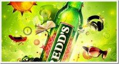 炫丽多彩的REDDS啤酒视觉海报精选