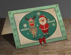 PS制作一张怀旧的针织圣诞贺卡教程