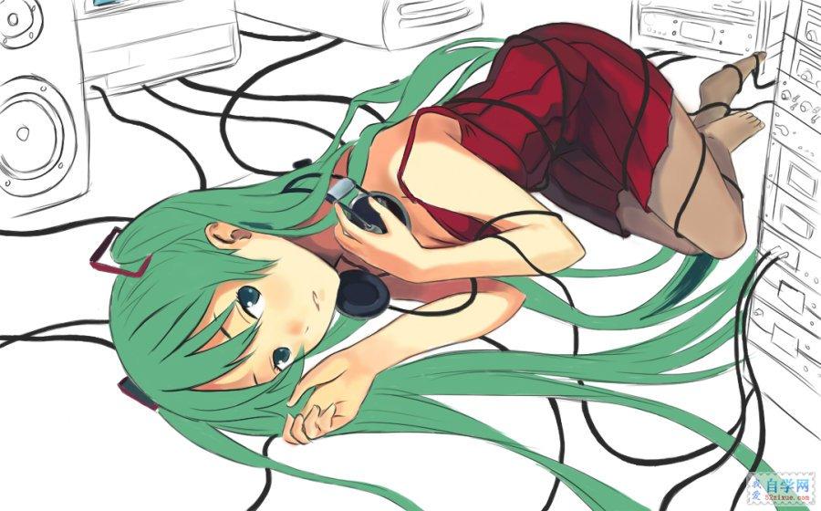 主题:painter手绘漫画初音未来美少女全身教程