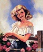 Painter IX制作油画风格美国招贴画艺术美女