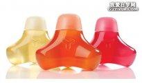 水晶般透明的瓶装产品设计