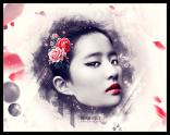 用PS合成古典美女刘亦菲头像全过程