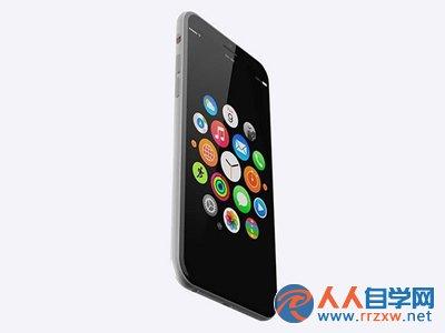 """至于iphone7的外观,该网友赋予了它""""无边框""""的设计"""