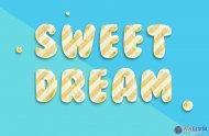 PS打造清新可爱3D糖果文字效果