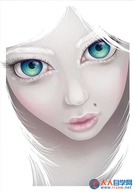 photoshop鼠绘可爱的大眼女孩