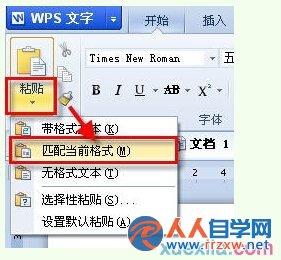 wps为何无法粘贴文字属性