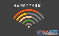 excel怎么制作WIFI信号百分比图表