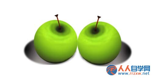 PS如何绘制逼真的青苹果 三联