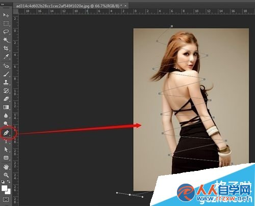 PHOTOSHOP制作动画-萦绕美女身边的光线