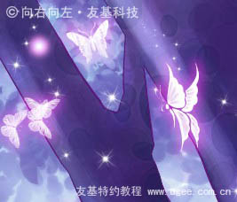 Photoshop鼠绘唯美的蝴蝶公主插画