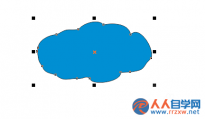 CorelDRA怎么绘制一个简笔画云朵