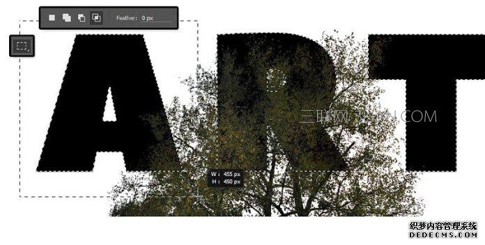 Photoshop制作有艺术感的双重曝光文字