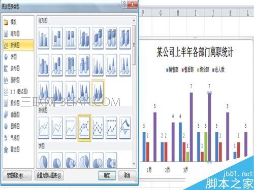 如何在Excel插入的柱形图中添加折线图