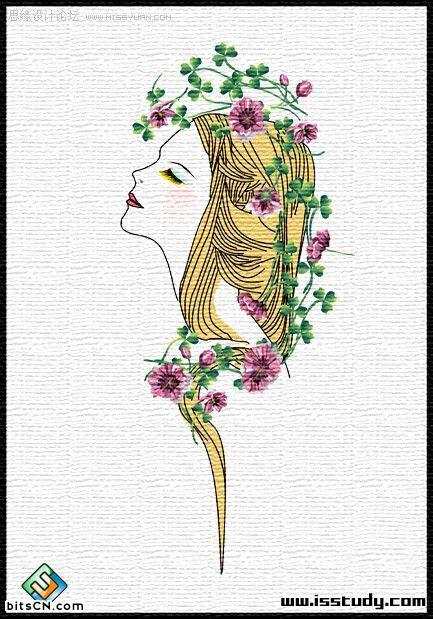 CorelDraw如何绘制漂亮时尚的美女插画?  三联