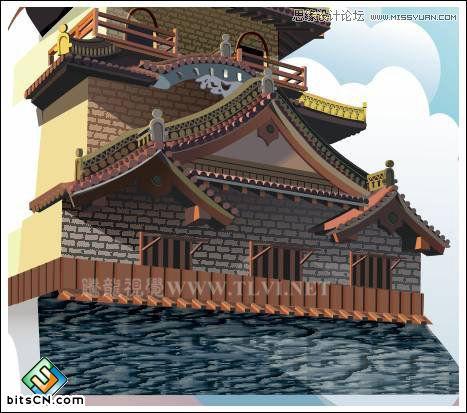 CorelDRAW绘制中国风古典建筑城楼教程,破洛洛