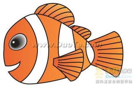 Coreldraw如何绘制海底总动员小鱼Nemo   三联