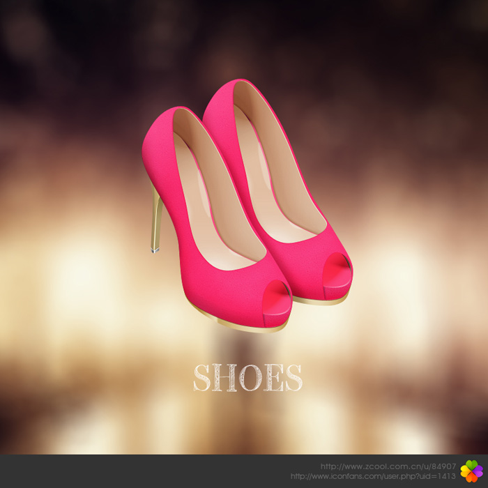 Photoshop制作一双时尚的高跟鞋 三联