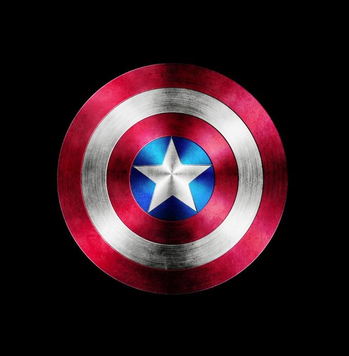 PS鼠绘漂亮的美国队长盾牌图标 三联