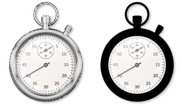 bf3edcc0d230460e80d74d0e5a08fe76 用PS创建一只金属秒表――PS精品教程