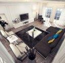 现代简约客厅样板间装修效果图