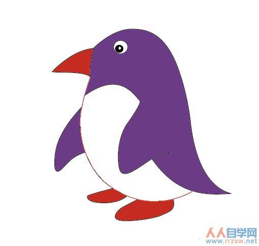AI如何绘制呆萌的企鹅