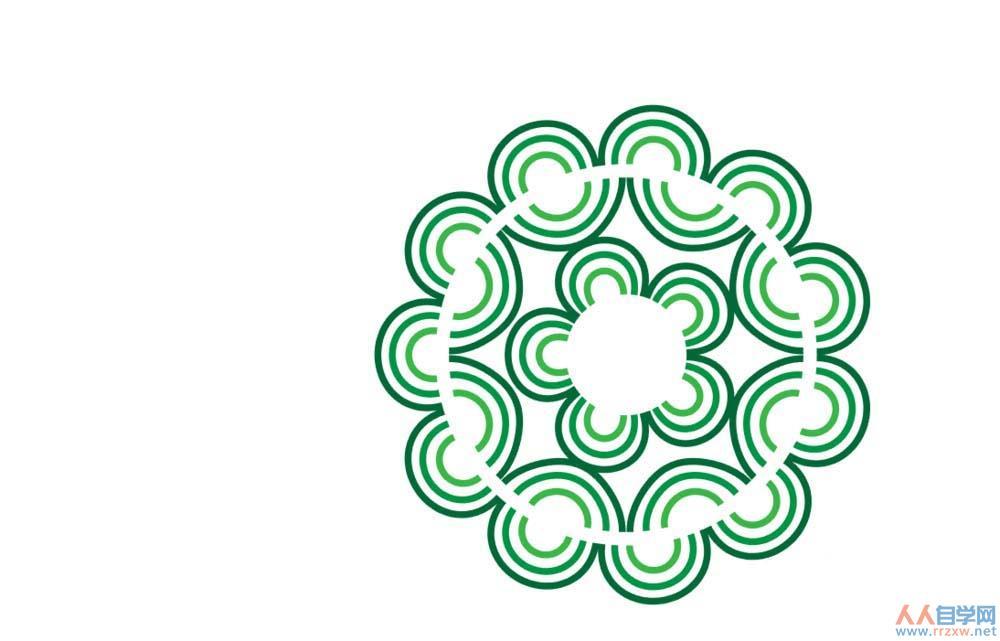 AI制作圆盘花纹图形