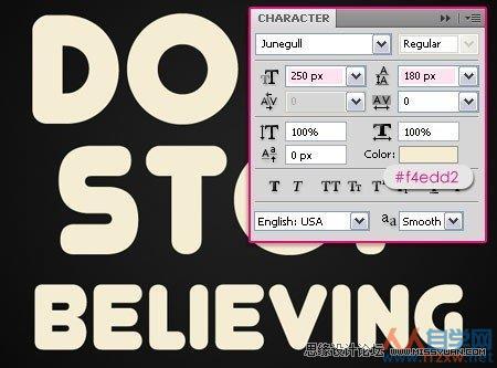 Photoshop设计多彩立体效果的光感文字