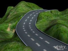 3ds Max教程:等高线制作山路的简单研究