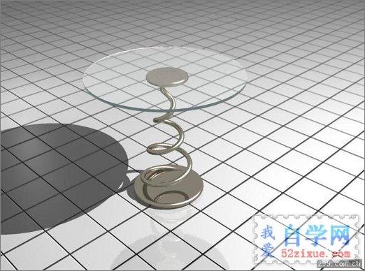 3DMax制作玻璃茶几