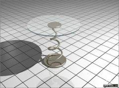 简单易学!3DMax制作玻璃茶几