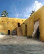 3dsMAX结合Photoshop绘制沙漠的房屋