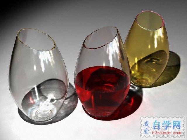 "alt=""3dsMAX和Vary渲染制作透明玻璃酒杯_天极设计在线整理"""